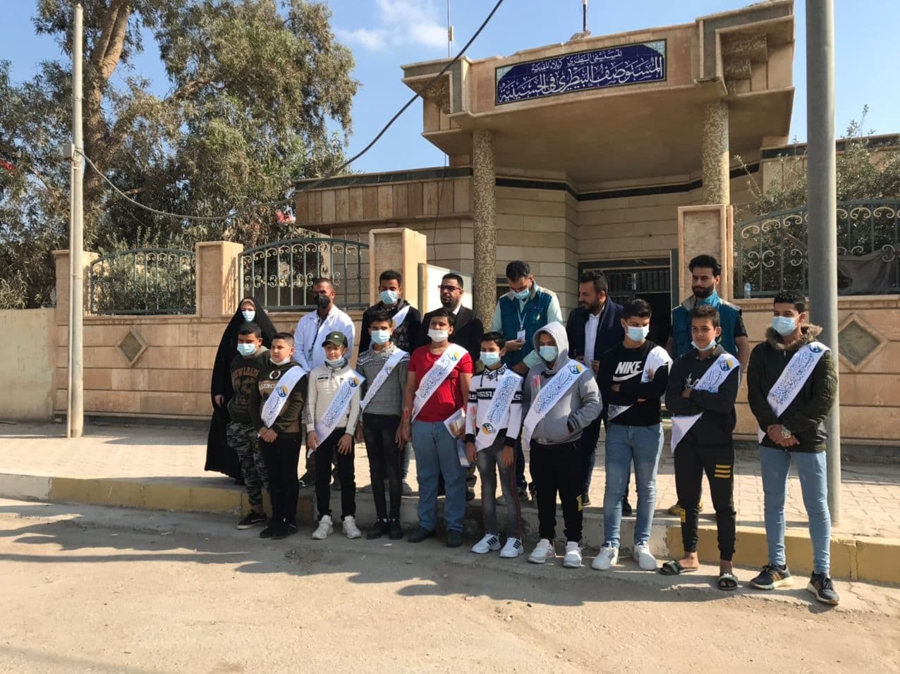 An entertaining and educational tour for orphans of the (( Al -Ain)) at Veterinary Hospital in cooperation with the veterinary medical staff and the Continuing Educational unit of the College of Veterinary Medicine