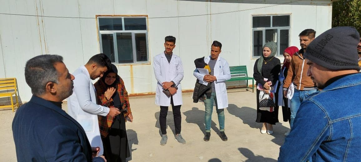 Meeting of The Dean of the College of Veterinary Medicine with students of the fifth stage