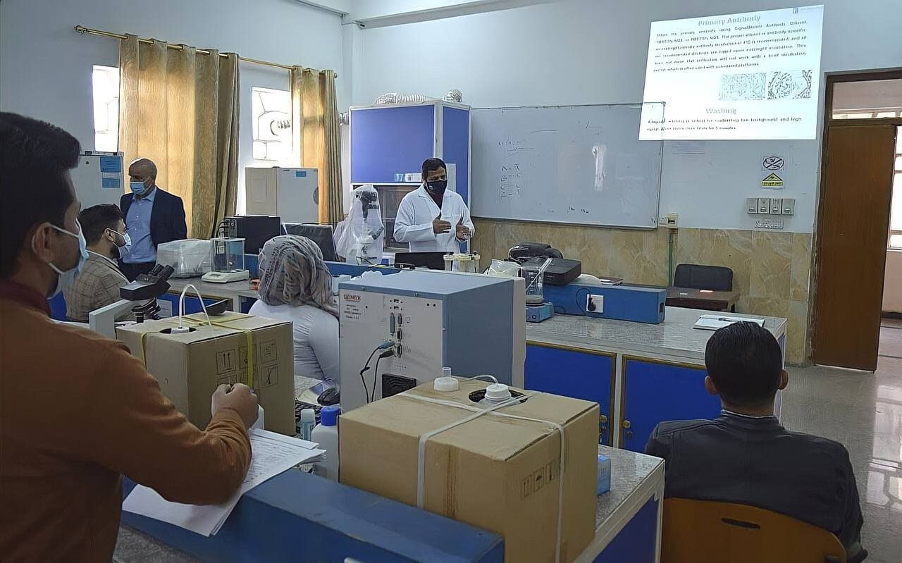 The College of Veterinary Medicine organizes a training course entitled: (IHC) Immunohistochemistry