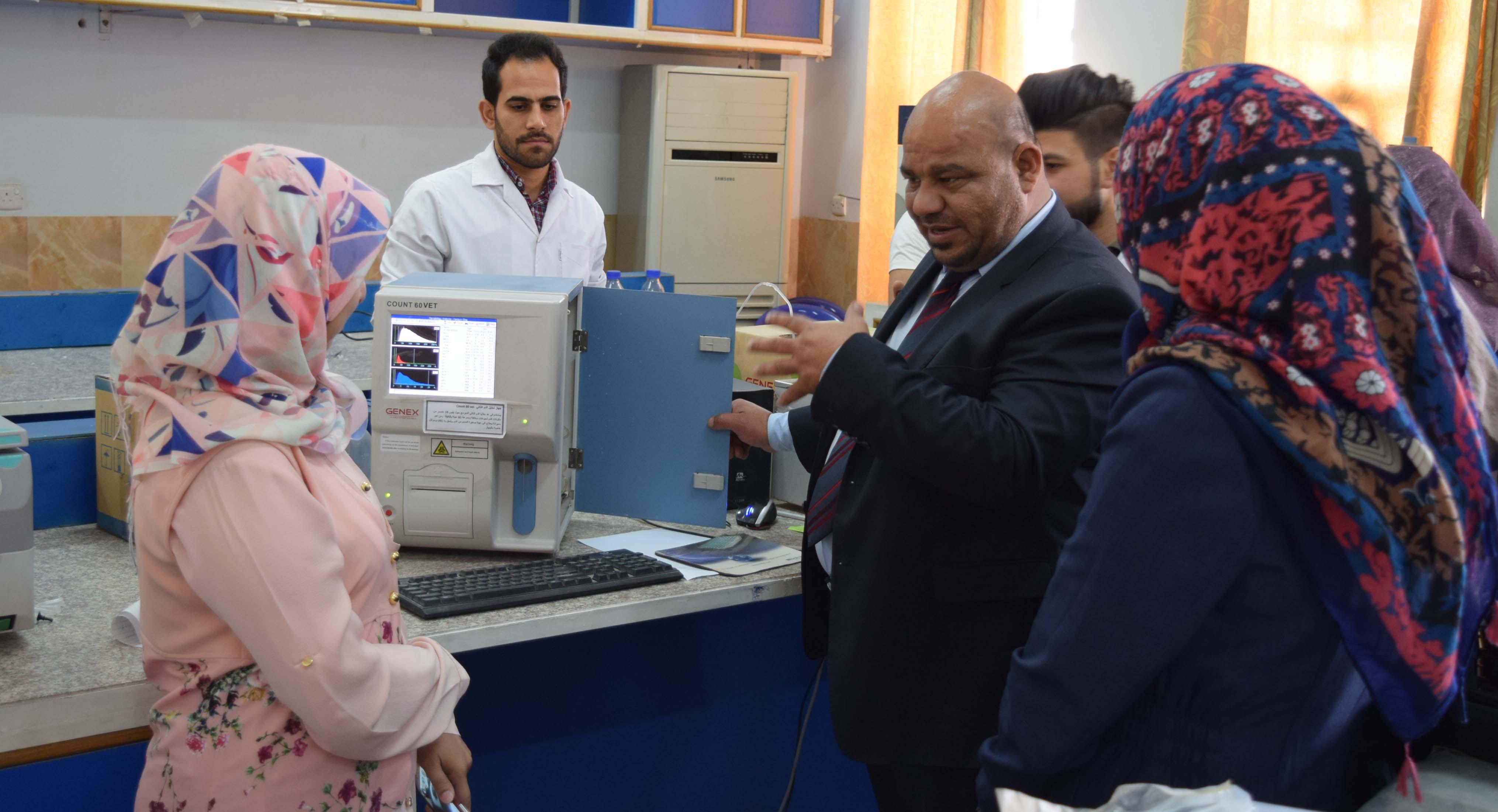 كلية الطب البيطري تقيم دورة تدريبية على جهاز تحليل الدم الذاتي (Count 60 vet)