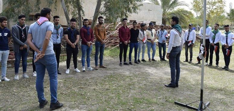 كلية الطب البيطري تشارك في المخيم الكشفي الذي نظمته جامعة كربلاء