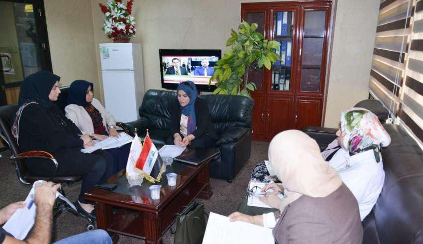 مشاركة السيدة عميد كلية الطب البيطري بجامعة كربلاء في الاجتماع الأول للجنة النوع الاجتماعي في وزارة التعليم العالي والبحث العلمي