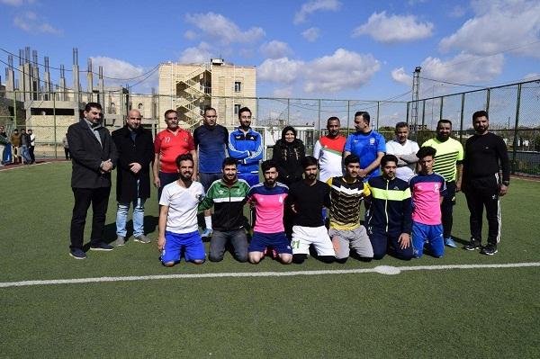 كلية الطب البيطري تنظم ( بطولة عميد الكلية) لخماسي كرة القدم