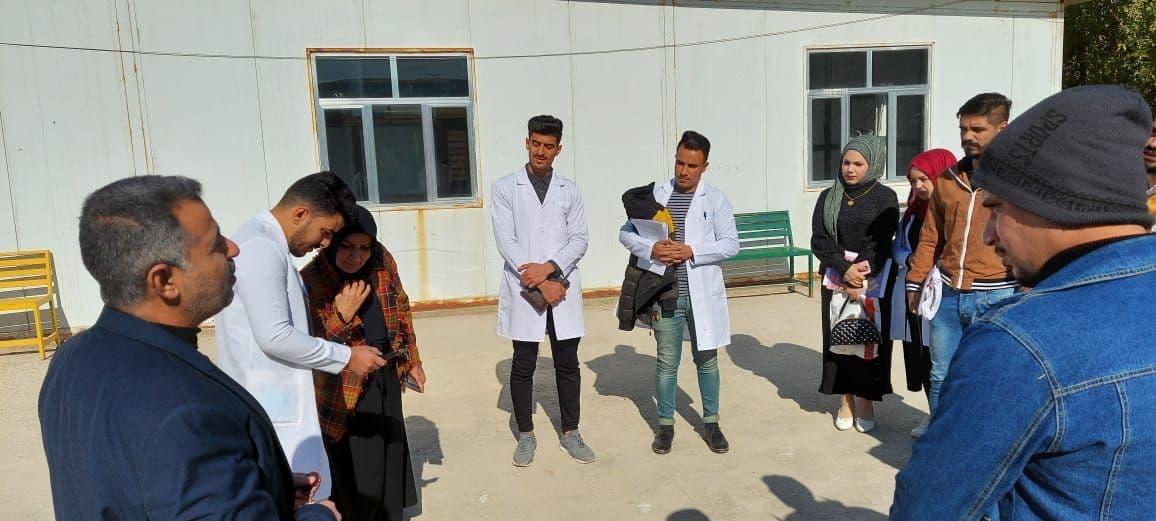 لقاء السيدة عميد كلية الطب البيطري بطلبة المرحلة الخامسة