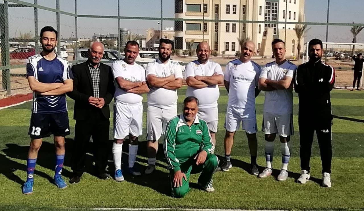فوز فريق كلية الطب البيطري على نظيره فريق كلية الطب ضمن بطولة كأس رئيس جامعة كربلاء لكرة القدم الخماسي